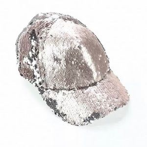 Steve Madden Pink Sequin Adjustable Cap